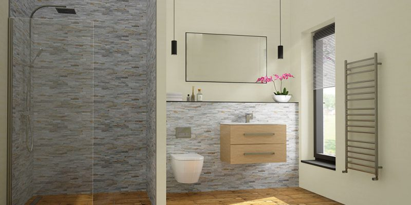 This Showstopper Wet Room Suite Is Set Against The Natural Tones Of Oyster  Spar Split Face Mosaic Tiles. The Wall Hung Vanity Unit Is Designed To  Maximise ...