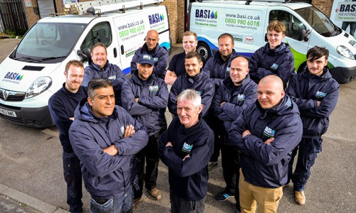 The basi bathrooms installation team