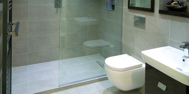Modern wet room installation