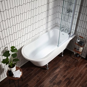 Introducing… The Islington back to wall roll top bath