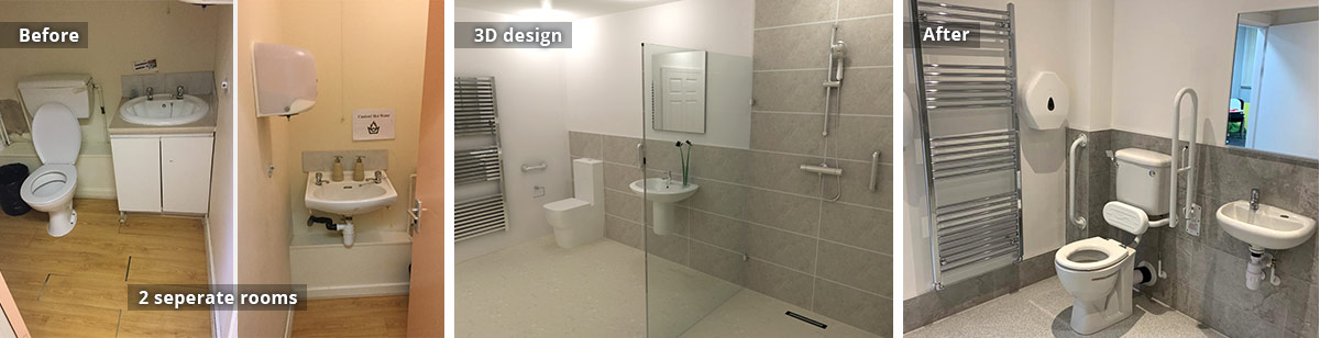 Leeds wet room adaptation project details