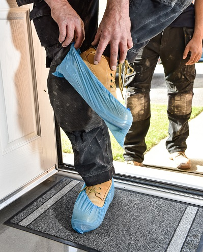 basi-bathrooms-fitters-protecting-shoes